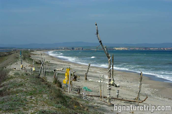 Стан на къмпингуващи при ивицата Поморие - Ахелой