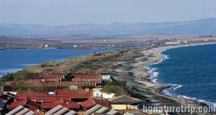 Поморийско-езеро-Поморие-растения-коса-пясъчна-ивица-калолечение-кайт-сърф