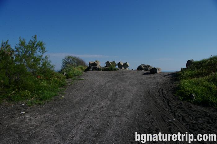 Поморийско-езеро-коса-пясъчна-път-ивица-велосипед-Поморие