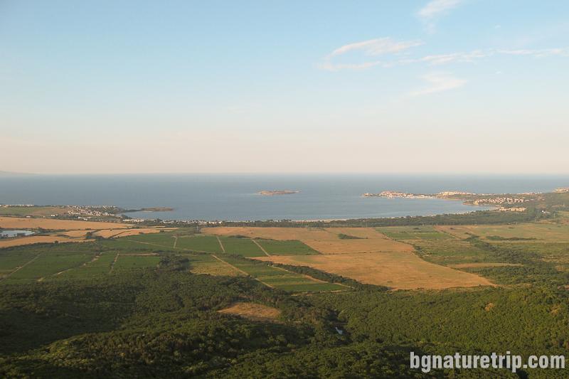 Панорамна гледка през лятото от Бакърлъка