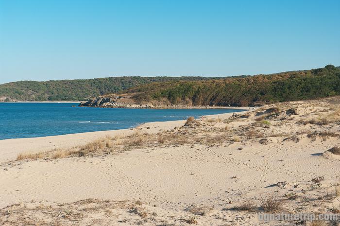 Към нос Кая по плажната ивица на Аркутино