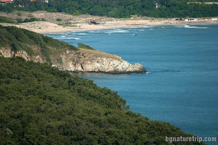 Нос Кая в резерват Ропотамо, близо до плаж Аркутино