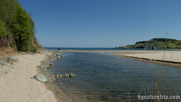 река Силистар при вливането си в Черно море