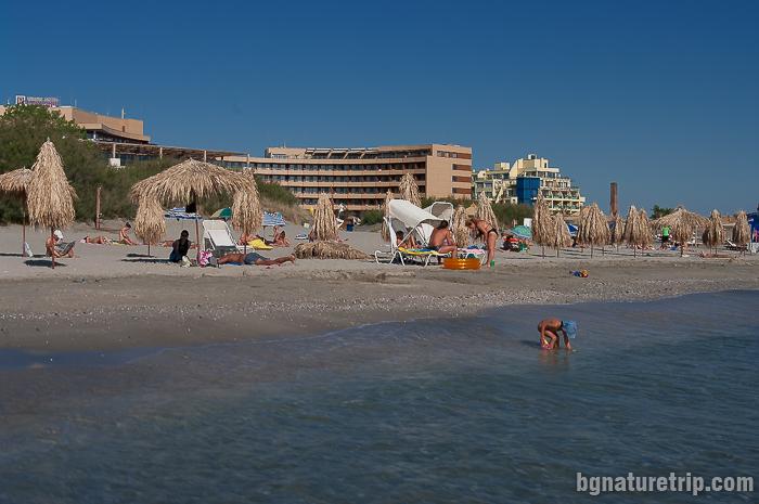 Централен плаж на Поморие