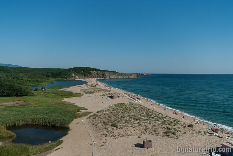 """Северният плаж на Синеморец, край река Велека, при """"Косата"""""""