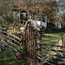 Оградата на една от къщите