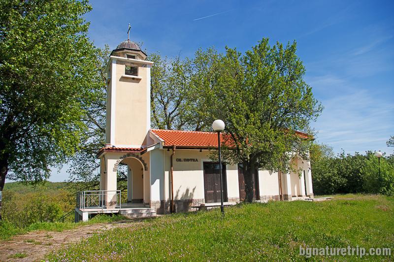 Новоизградената църква Св. Петка при Петрова нива