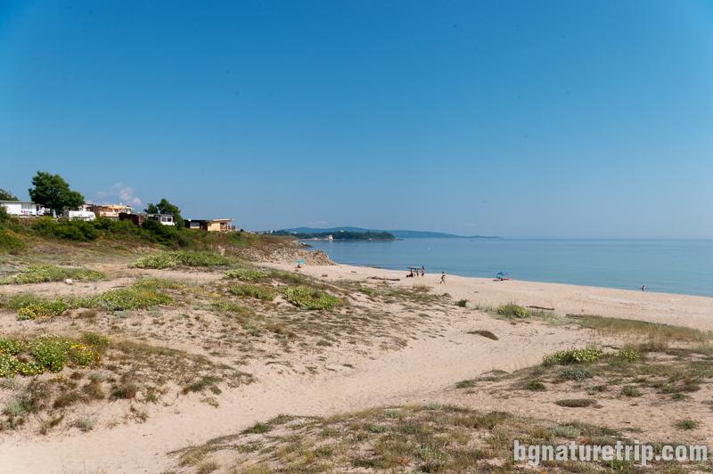 Плаж Корал - пясъчни дюни