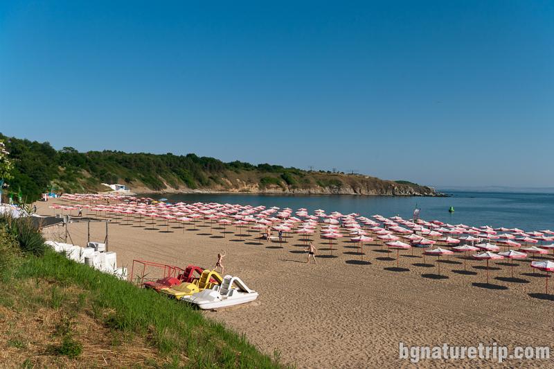 Централен плаж на Черноморец