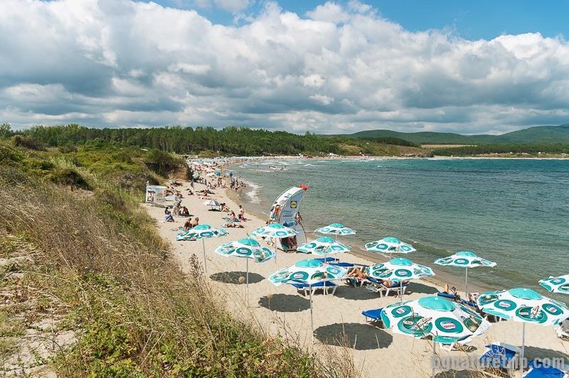Плажът на Ахтопол от юг на север