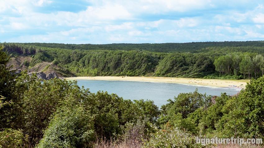 Изглед към плаж Силистар от северния носа