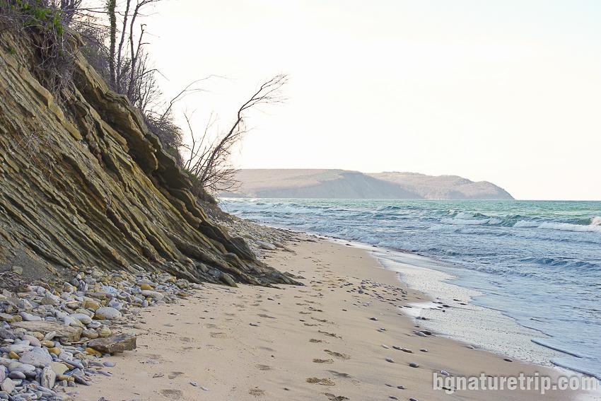 Южният край на плажа Иракли
