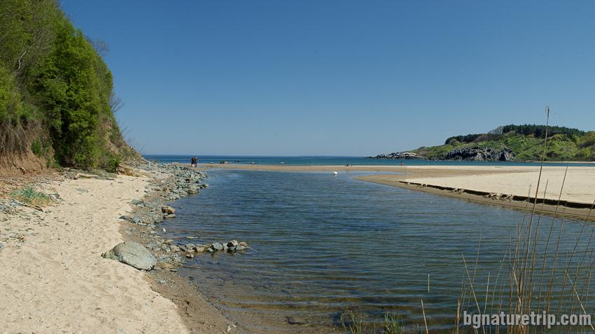 Устието на река Силистар при плаж Силистар
