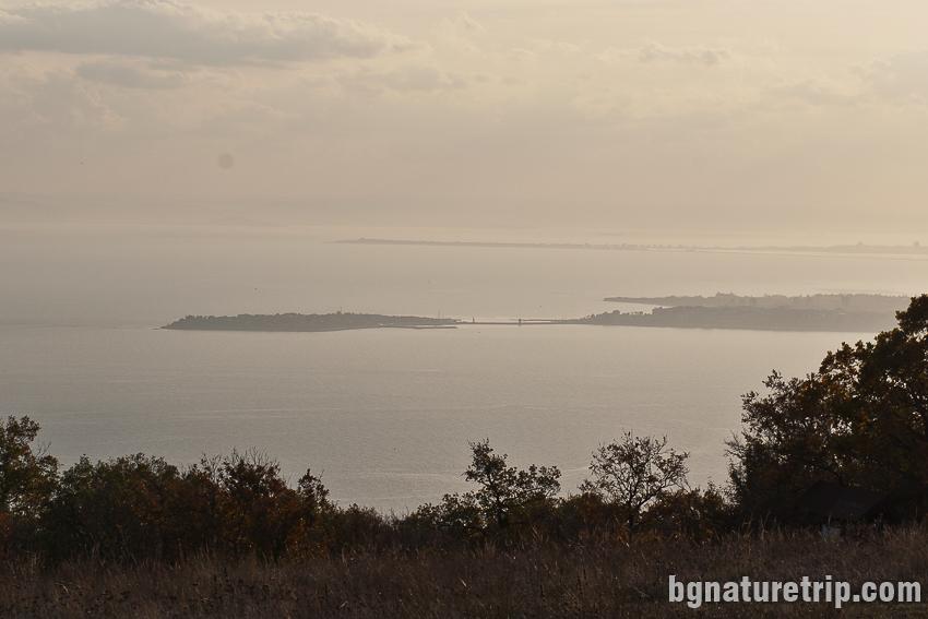 Изглед към полуострова на Несебър - Старият град