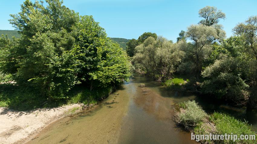 Река Велека минаваща през Бродилово