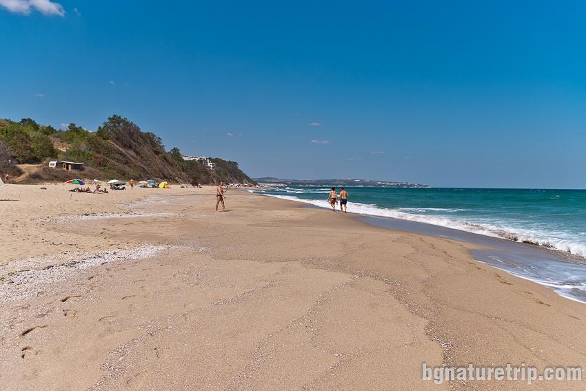 Южен плаж Обзор - неохраняем участък