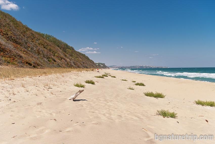 Южен плаж на Обзор - див и неохраняем