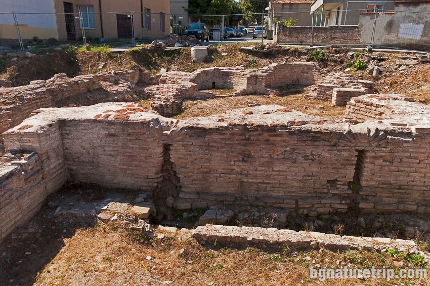 Ранновизантийски бани в Обзор