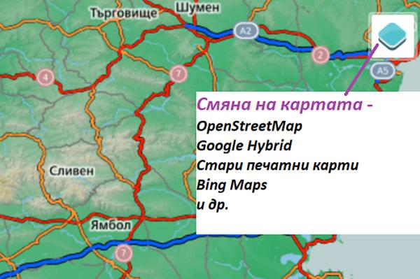 Промяна на картата подложка в сайта kade.si